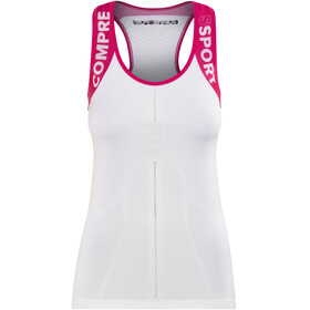 Compressport Trail Running V2 Ultra Running Shirt sleeveless Women pink/white